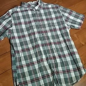 Old Navy fitted men's L button front short sleeve
